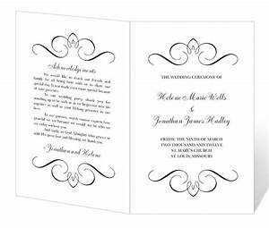 wedding program template printable instant download With free wedding brochure templates download