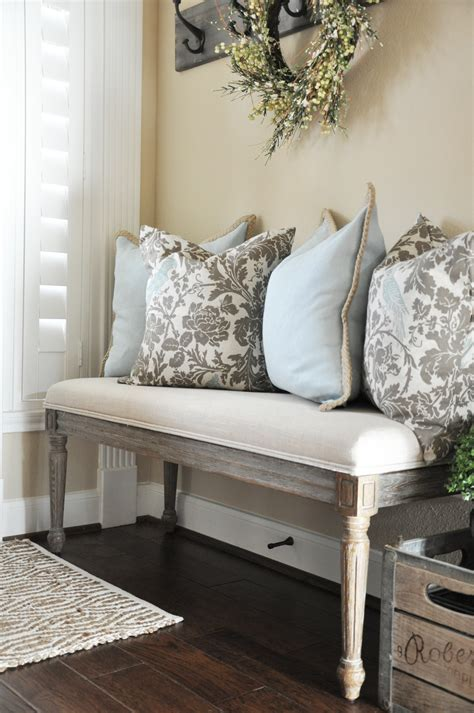 Cheap Kitchen Decorating Ideas - my house favorites entryway bench throw pillows and bench