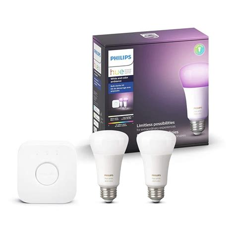 this 100 philips hue starter kit has two color smart bulbs and a hub android central