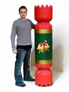 giant christmas cracker red winter wonderland party themed prop hire christmas theming