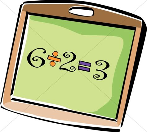 mini clip chalkboard student chalkboard with division christian classroom clipart