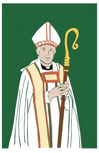 Bishop Clipart Catholic Clergy Staff Cartoon Church