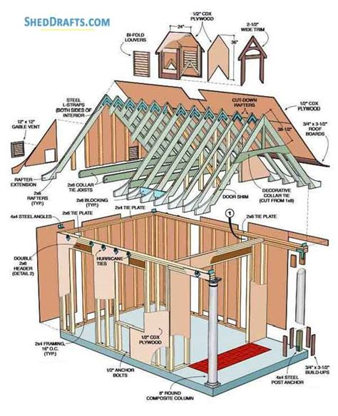 Porch Blueprints by 10 215 12 Garden Shed With Porch Building Plans Blueprints To