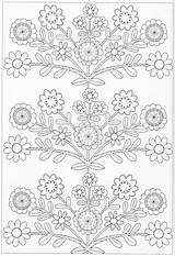 Pattern Coloring Scandinavian Pg Flower Embroidery Patterns sketch template