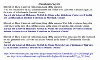 Prayers To Say Through The Celebration Of Hanukkah