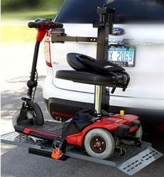 wheelchair carrier vehicle hitch mount electric lift