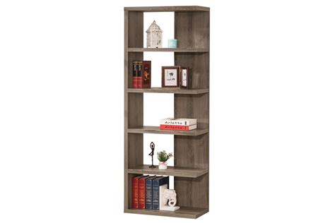 White Backless Bookcase by Semi Backless Weathered Grey Bookcase 800553 At Gardner White