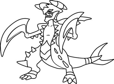 mega garchomp pokemon coloring page  printable