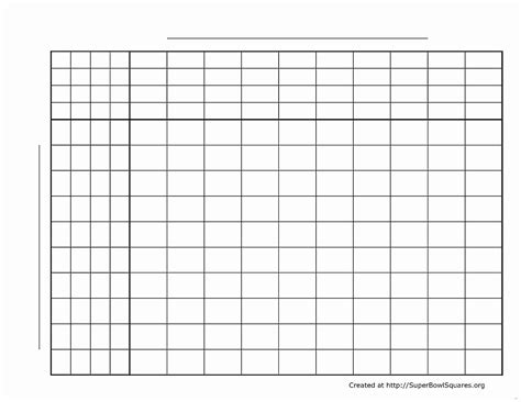 2018 bowl squares template blank football squares template printable football squares sheets documents ideas