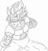Bardock Coloring Drawing Ssj3 Rell Ruga Drawings Draw Getdrawings Deviantart sketch template