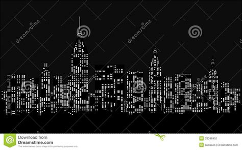 modern city  night stock illustration illustration