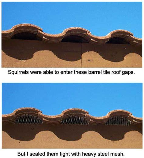 tile roof tile roof bird stop