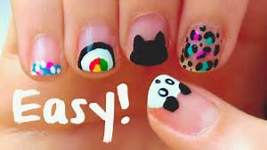 Easy nail art designs for short nails beginners