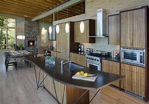 Modern lake house interior kitchen inspiration decoseecom for Modern house kitchen interior design
