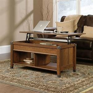 Lift top coffee table in cherry wood finish warm for Cherry wood lift top coffee table