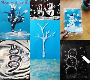 Malen Mit Kleinkindern Ideen : tolle ideen zum malen im winter mit kleinkinder mama kreativ ~ Watch28wear.com Haus und Dekorationen
