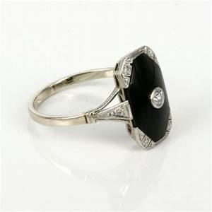 black onyx diamond rings women wedding promise diamond With onyx wedding ring women