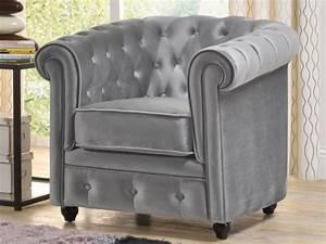 fauteuil en velours gris argent chesterfield With tapis de marche avec canapé chesterfield velours gris