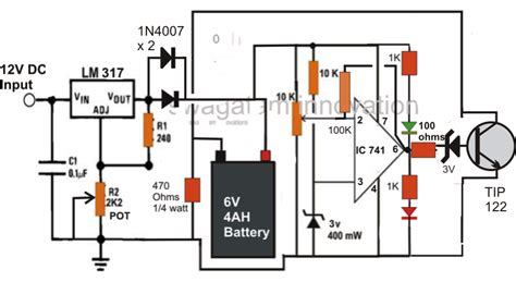 Lead Acid Battery Charger Circuit Using