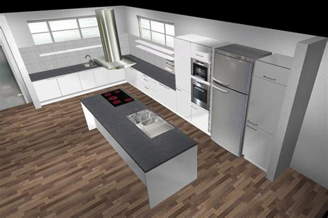 E+k Küche Kochinsel Lack 14338, Viele Auszüge Eckrondell