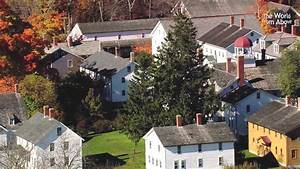 Canterbury Shaker Village  New Hampshire From Above - In High Definition  Hd