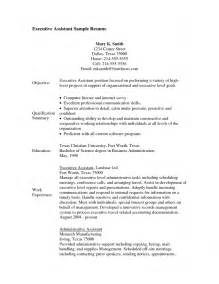 Assistant Resume No Experience by Sle Assistant Resume With No Experience Template Design