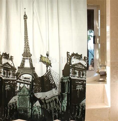 eiffel tower shower curtain shower curtain retro eiffel tower bathroom
