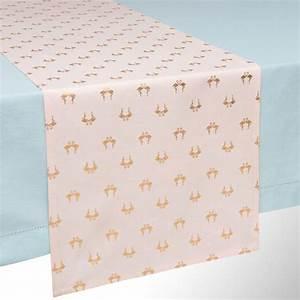 Chemin De Table Rose Gold : chemin de table en coton rose motifs dor s ~ Teatrodelosmanantiales.com Idées de Décoration