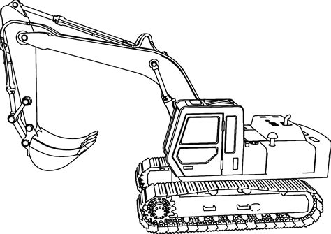 Coloring Jcb by Excavator Side Coloring Page Construction Machine Colouring