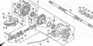 Honda Atv 1997 Oem Parts Diagram For Final Driven Gear