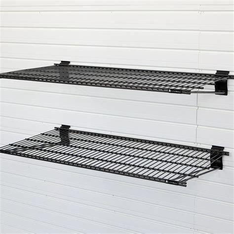 Wall Bracket Shelf System by Flow Wall 24 In X 12 In Metal Bracket Shelf Black 2