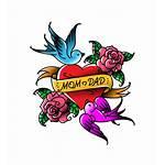 Mom Heart Tattoo Clip Illustrations Dad Tattoos