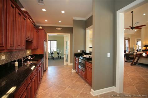cherry color cabinets kitchens 25 best collection of kitchen colors with cherry cabinets 5369