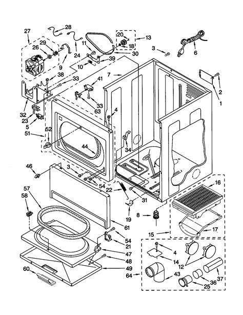 kenmore gas dryer dryer top parts 11070056991 searspartsdirect