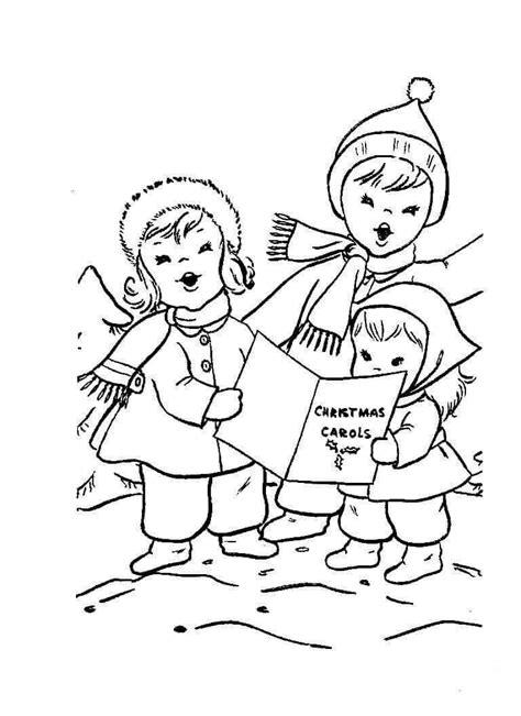 christmas carol coloring pages printable