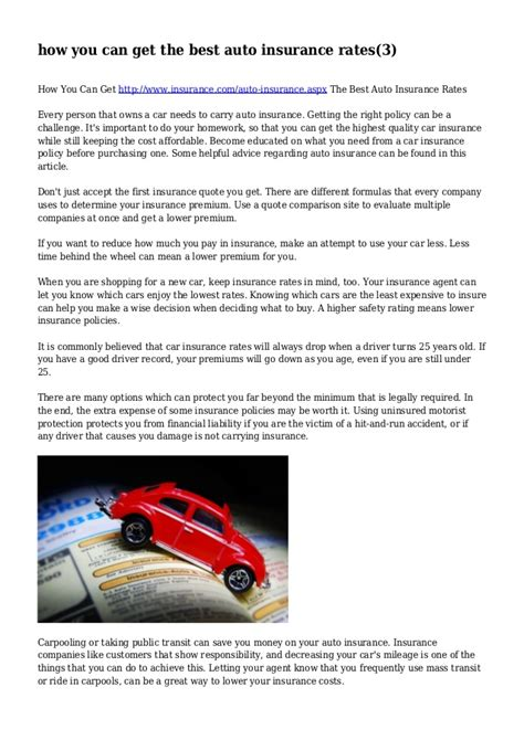 Best Car Insurance Rates - how you can get the best auto insurance rates 3