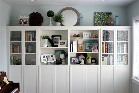 bookcases that look like built ins ikea billy bookcases customised to look like built in