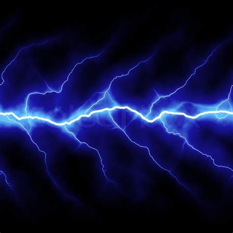 bolts of lightning isolated a black background