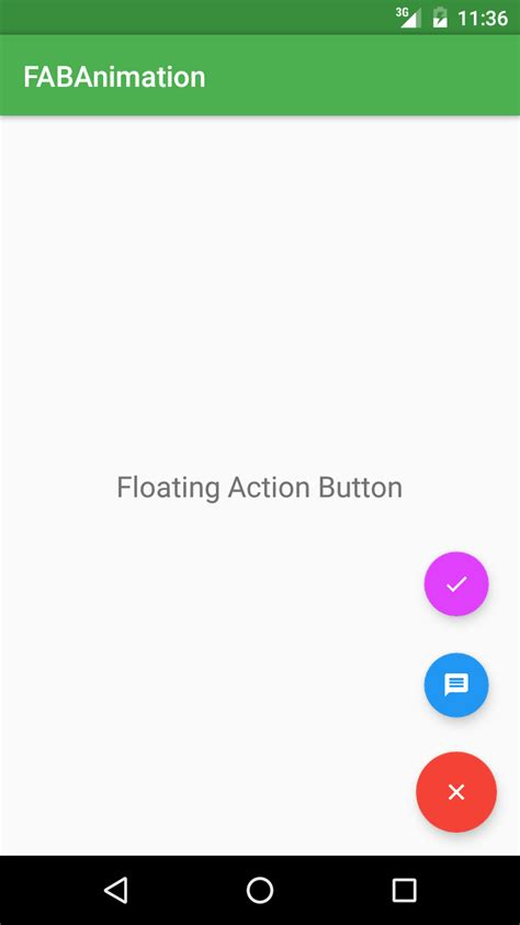 working  android fab floating action button animations