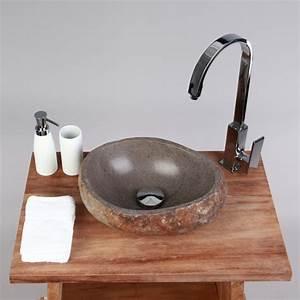 Waschtisch Aus Holz Für Aufsatzwaschbecken : naturstein waschbecken 30 cm innen poliert ~ Lizthompson.info Haus und Dekorationen