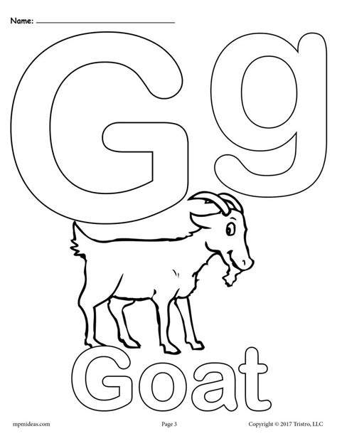 Coloring Letter G by Letter G Alphabet Coloring Pages 3 Free Printable
