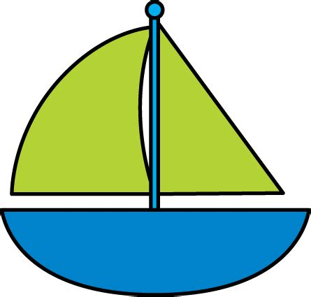 Boat Clipart Pictures by Blue Sailboat Clip Blue Sailboat Image