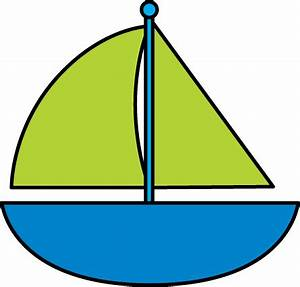 Blue Sailboat Clip Art - Blue Sailboat Image