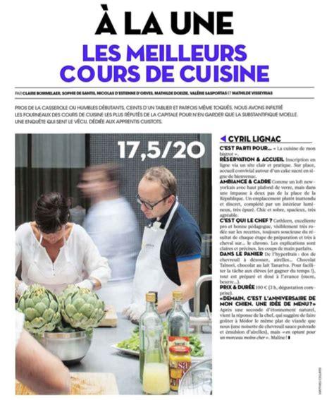classement ecole de cuisine category l atelier le de cyril lignac