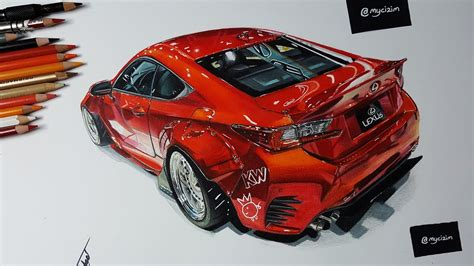 rocket bunny lexus rc car drawing youtube