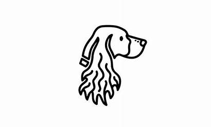 Spaniel Springer Dog Drawing Hunting English Decal