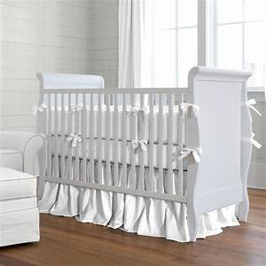 White Baby Bedding Solid White Crib Bedding Carousel