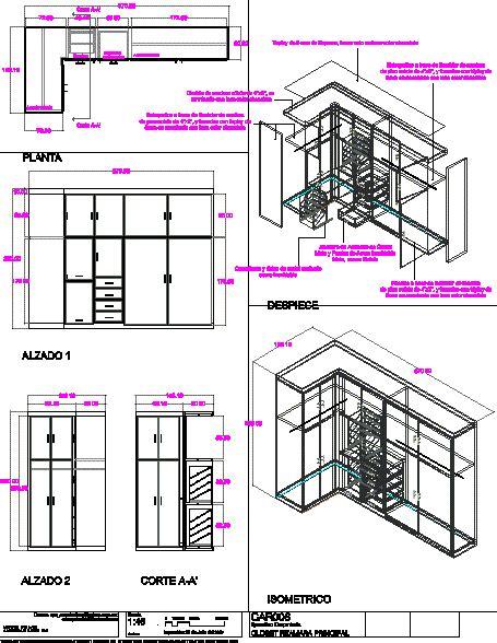planos de closet en dormitorios muebles equipamiento en