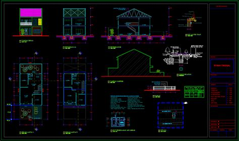 desain rumah minimalis  lantai type  dwg