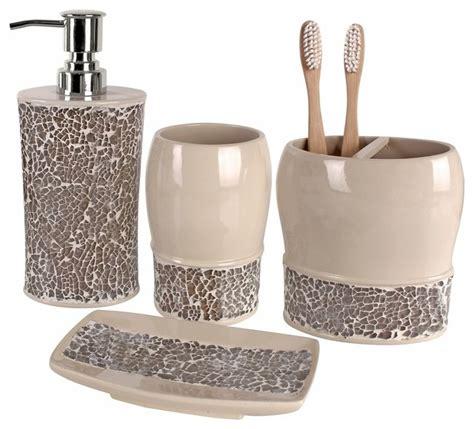 broccostella  piece bath accessory set contemporary